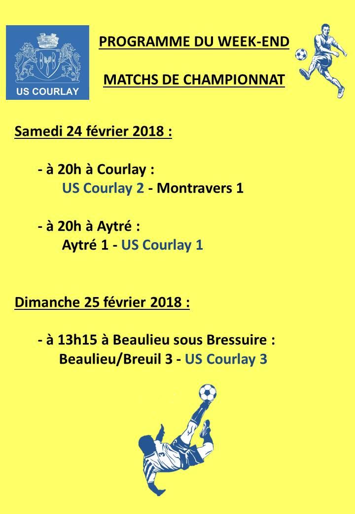 2018_02_22 Matchs_au_programme_du_week_end