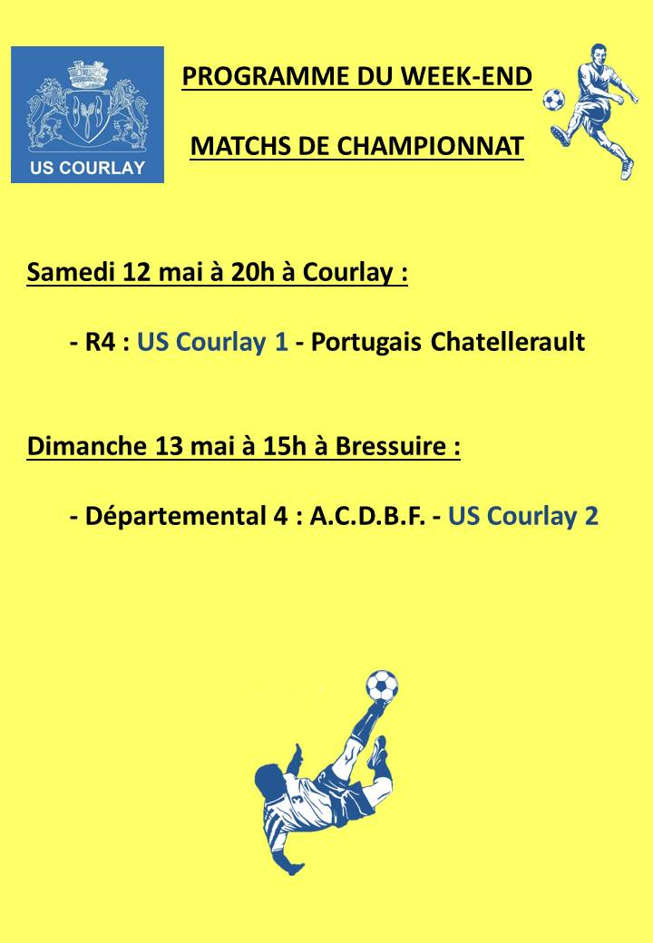 2018_05_10 Matchs_au_programme_du_week_end