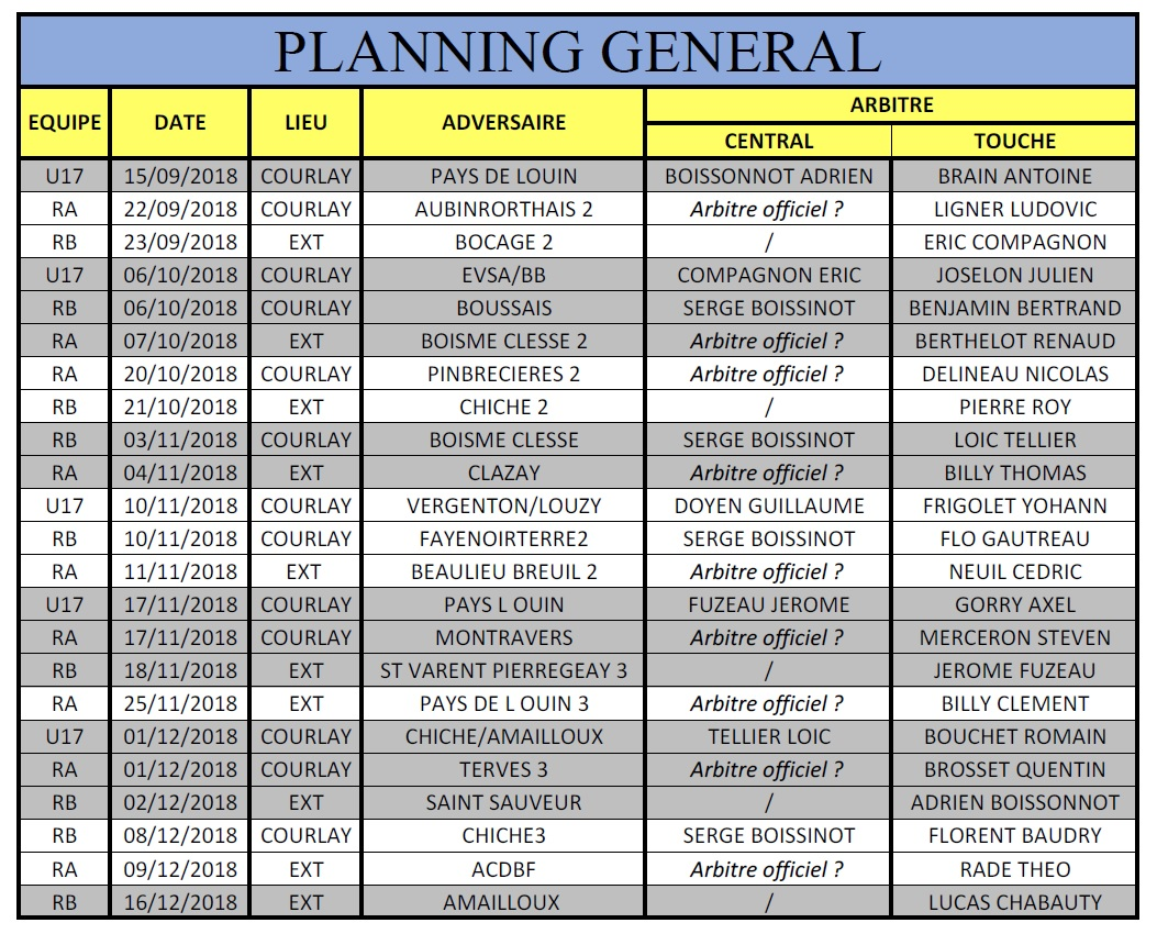 2018_09_14 Planning_Accompagnement_RA_RB_et_U17