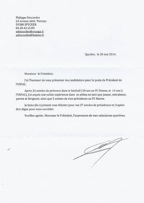 lettre candidature D.P