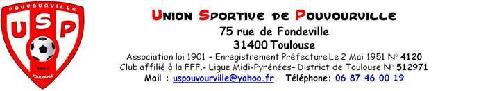 US Pouvourville : site officiel du club de foot de TOULOUSE - footeo