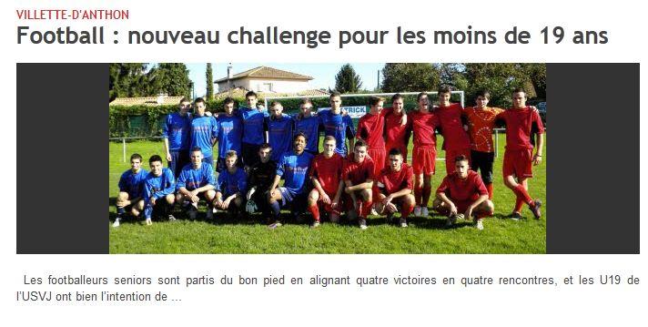 U19 le dauphine 20-10-12